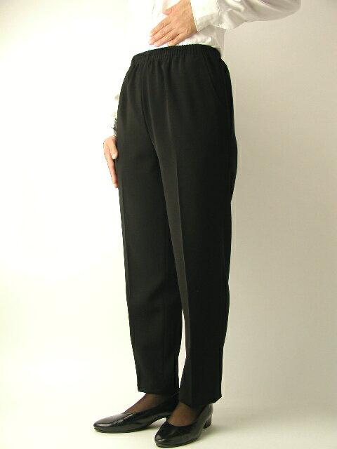 【ミセス】売れ筋■黒パンツ■【S~5L】【ブラックフォーマルに最適】【5020】