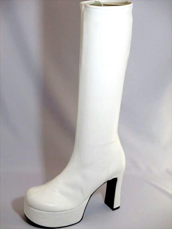 イベント用白ブーツ11cmヒール