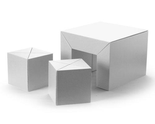 [スマホエントリーでポイント最大19倍]渡辺力デザイン カートンファニチャーシリーズ キッズセット(ホワイト) 送料無料