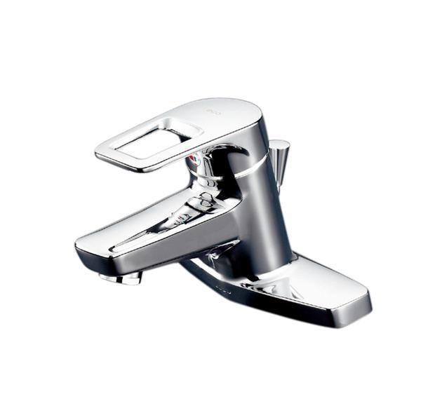 【送料無料】TOTO 洗面器用エコシングル水栓レバーハンドル湯側回転角度規制タイプTL430(ワンプッシュ排水金具専用)(受注生産品:納期2週間)