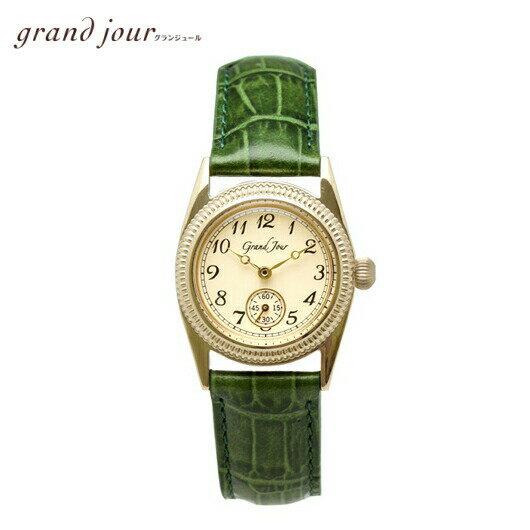 【送料無料】GrandJour グランジュール クラシカル アンティーク ウォッチ GJ10-GR 腕時計 女性 レディース 上品 洗練 大人 アクセサリー ブレスレット 華奢