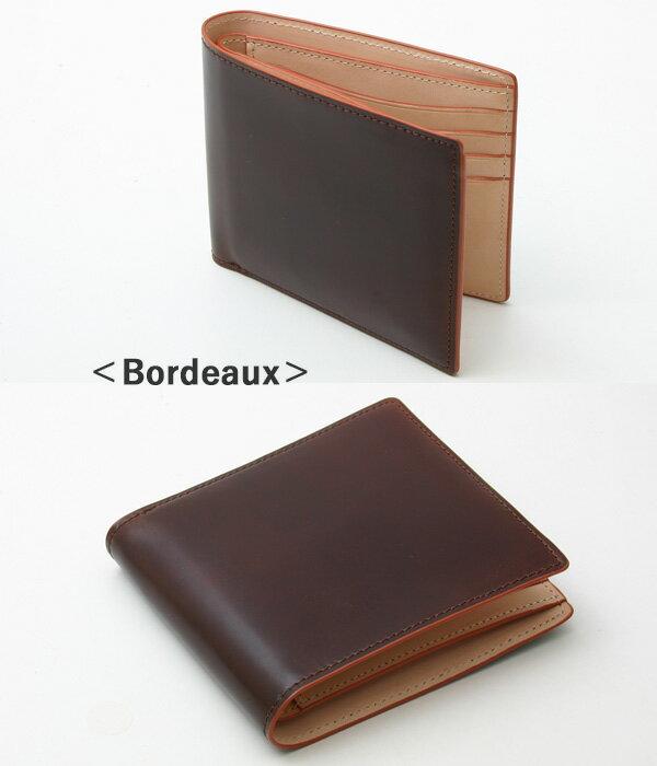 チマブエ CIMABUE graceful チマブエグレースフル サイフ コードバン二つ折り財布(小銭入れなし)15042