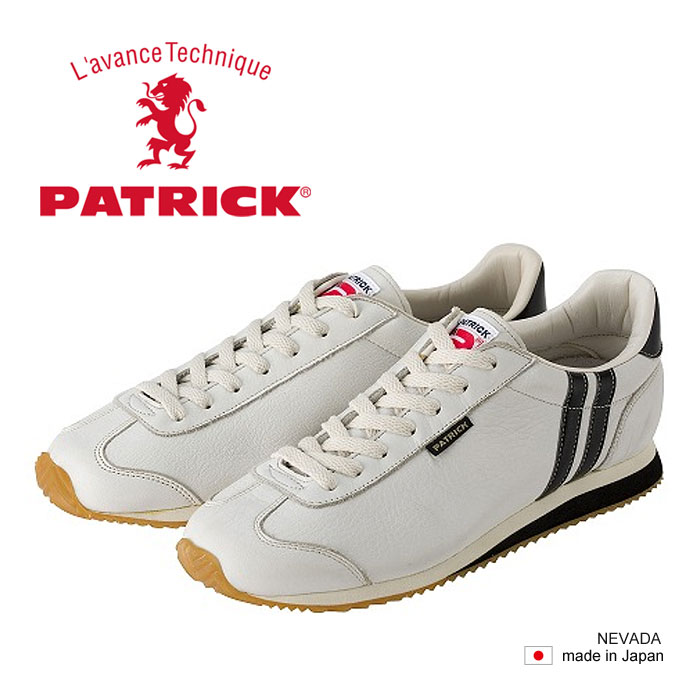 【数量限定★スニーカークリーナープレゼント】 パトリック ネヴァダ レザー スニーカー メンズ レディース シューズ 日本製 ホワイト WHITE 白 男性 女性 PATRICK NEVADA II 17510 送料無料 靴