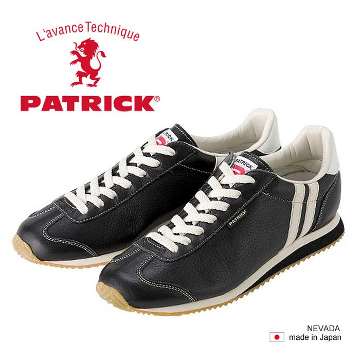 【数量限定★スニーカークリーナープレゼント】 パトリック ネヴァダ レザー スニーカー メンズ レディース シューズ 日本製 ブラック BLACK 黒 男性 女性 PATRICK NEVADA II 17511 送料無料 靴