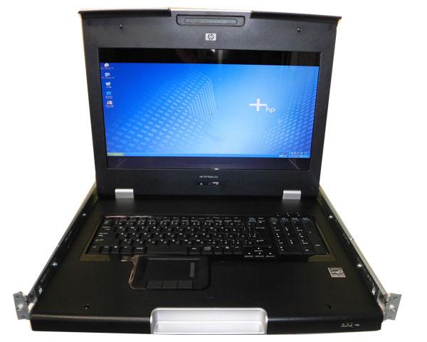 HP TFT7600 G2 ラックマウント型キーボード/モニター(AZ882A)【中古】