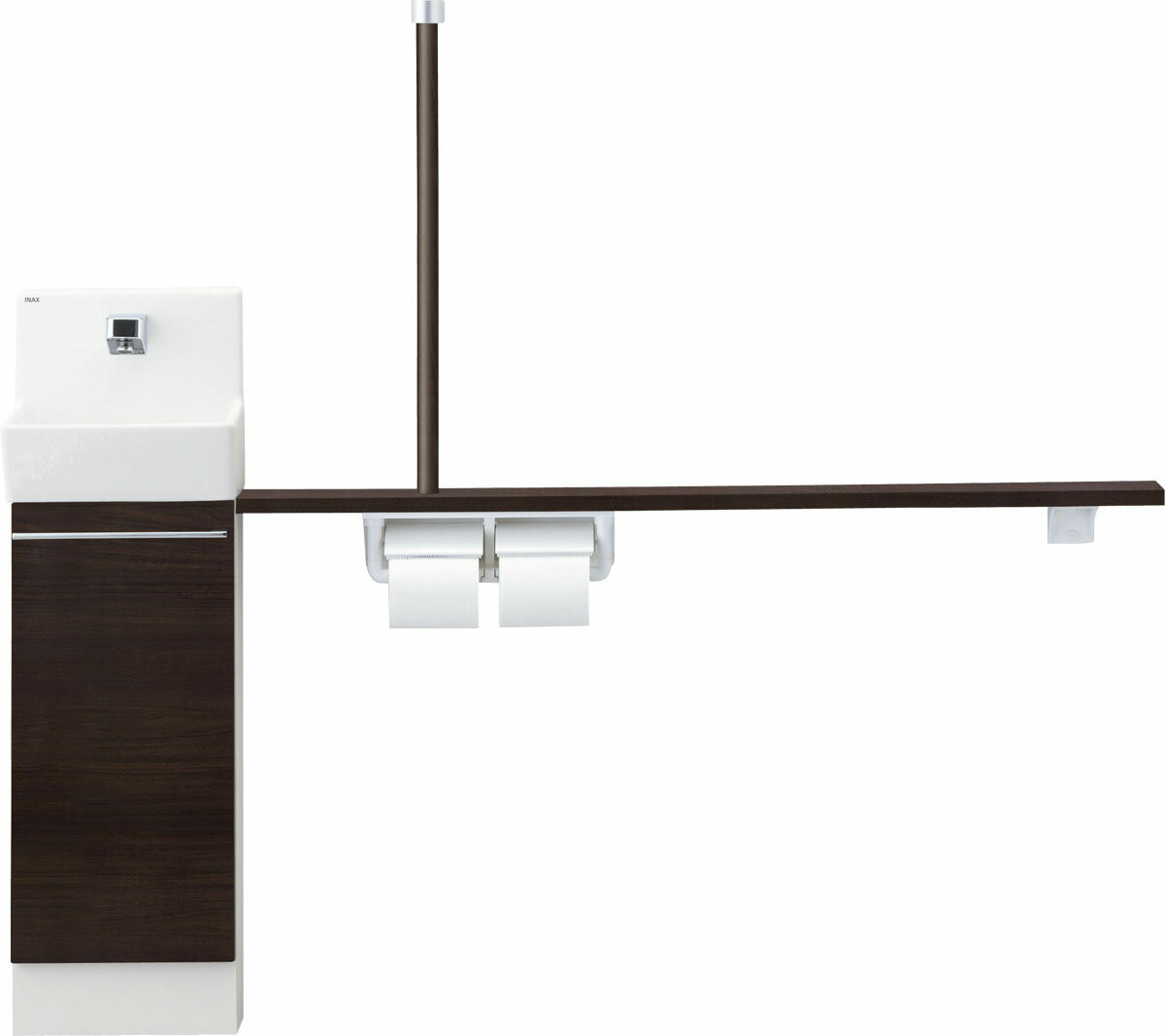 LIXIL  INAX トイレ手洗 コフレル スリム(埋込)カウンター間口1200サイズ YL-DA82VTW12B