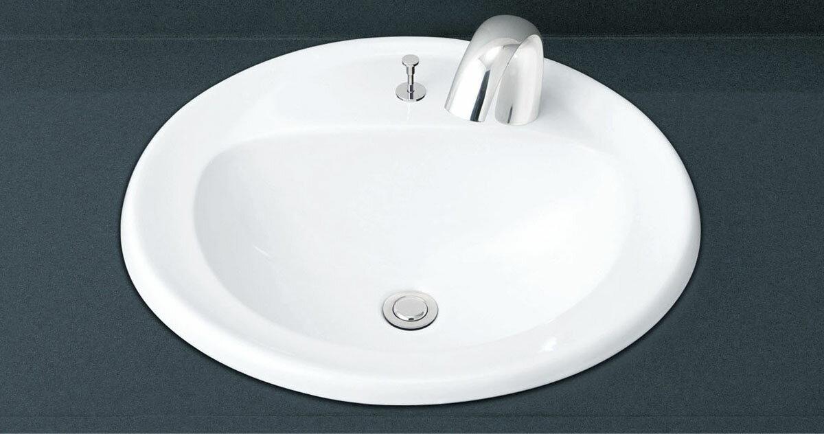 LIXIL INAX はめ込み だ円形洗面器 オーバーカウンター式 L-2394AP + AM-140TC(100V)