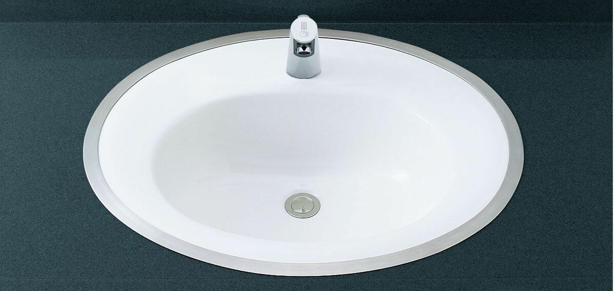 LIXIL INAX フレーム式洗面器 (サーモスタット付自動水栓セット) L-2594FC + AM-200T