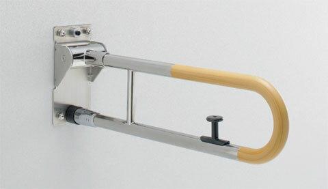 TOTO パブリック用手すり 腰掛便器用(可動式) はね上げタイプ(ロック付き) T114HK6