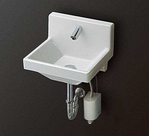 TOTO 壁掛ハイバック洗面器(コンパクトタイプ) アクアオート 自動水栓(単水栓)発電タイプ LSW120AP1 LSW120AS1