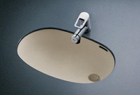 TOTO カウンター式楕円形洗面器セット  L587U + TLN32TEF