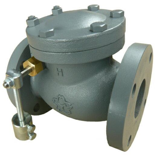 大和バルブ 鋳鉄バルブ カウンターウェイトチェッキ F10KCE-150A