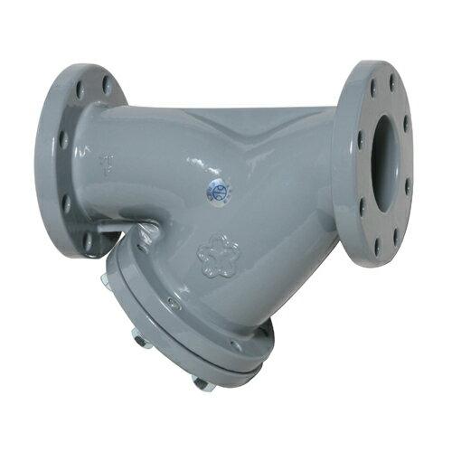 大和バルブ 鋳鉄ナイロン ライニングバルブ(鉛カットバルブ) Y形ストレーナ NF10YN-200A