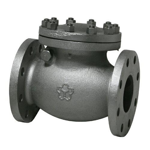 大和バルブ ダクタイル鋳鉄バルブ スイングチェッキ D16C-125A