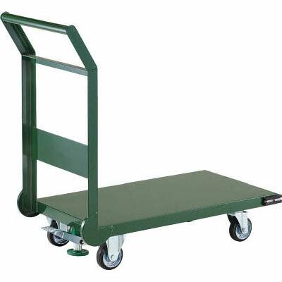 トラスコ 鋼鉄製運搬車(導電性・ストッパー付)1200×750mm グリーン【代引不可・メーカー直送品】 SH-1NES-GN