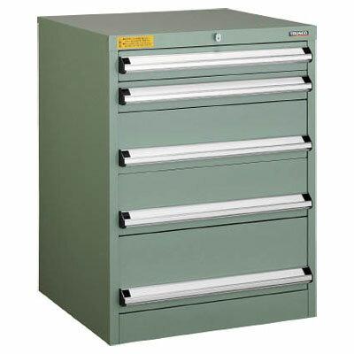トラスコ VE6S型中量キャビネット 600×550×H800 引出5段※メーカー直送品 VE6S-807