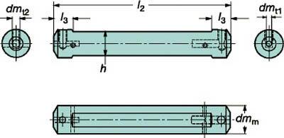【サンドビック】サンドビック コロターンXS 小型旋盤アダプタ CXSA1206[サンドビック ホルダー切削工具旋削・フライス加工工具ホルダー]【TN】【TC】 P01Jul16