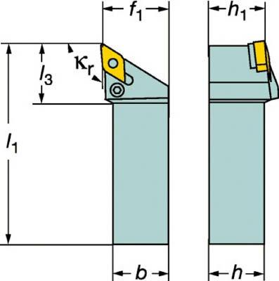 【サンドビック】サンドビック T-Max P ネガチップ用シャンクバイト PDJNR2525M11サンドビック ホルダー切削工具旋削・フライス加工工具ホルダー【TN】【TC】