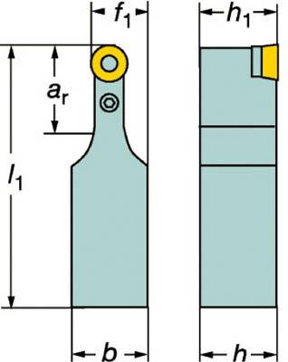 【サンドビック】サンドビック T-Max P ポジチップ用シャンクバイト PRDCN2525M12サンドビック ホルダー切削工具旋削・フライス加工工具ホルダー【TN】【TC】