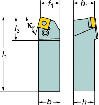【サンドビック】サンドビック T-Max P ネガチップ用シャンクバイト PSBNL2525M12サンドビック ホルダー切削工具旋削・フライス加工工具ホルダー【TN】【TC】