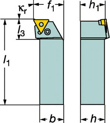 【サンドビック】サンドビック T-Max P ネガチップ用シャンクバイト PTFNL2525M16サンドビック ホルダー切削工具旋削・フライス加工工具ホルダー【TN】【TC】