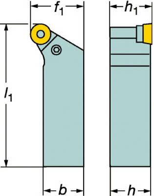 【サンドビック】サンドビック T-Max P ネガチップ用シャンクバイト PRGNR2525M12サンドビック ホルダー切削工具旋削・フライス加工工具ホルダー【TN】【TC】