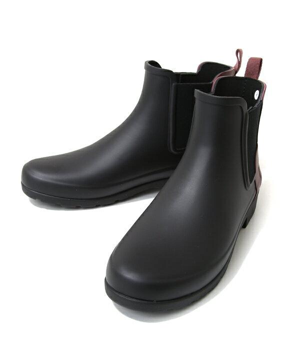 HUNTER [ハンター] / 【WOMENS ORG REFINED CHELSEA -BLACK/DULSE- (ハンター レインブーツ チェルシー レディース 長靴 雨) HWFS1017RMABDU【ANN】