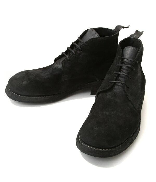 GUIDI&ROSELLINI (グイディ&ロゼリーニ) / Ruggero 1906-BLACK-(guidi レザーシューズ 革靴 ミッドレース)Ruggero1906-BLK【RIP】