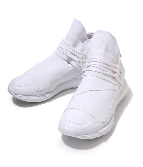 【SALE/セール】Y-3(ワイスリー) / Y-3 Qasa high (ALL WHITE)(2016 春夏 新作 正規取扱 カーサ ハイ スニーカー シューズ 靴 YOHJI YAMAMOTO adidas 白 オール ホワイト)AQ5500【WAX】【BJB】