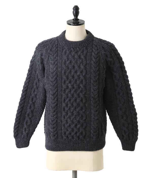INVERALLAN(インバーアラン) / Crewneck Sweater (SIZE ; 40.42)(インバーアラン ニット セーター 手編み)ia-1a-l-cha【STD】