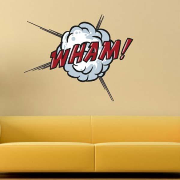 壁 ステッカー ウォール 漫画 おしゃれ 壁面装飾 Comic Book Wall Stickers WHAM!