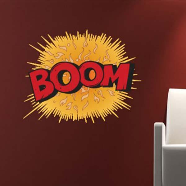 壁 ステッカー ウォール 漫画 おしゃれ 壁面装飾 Comic Book Wall Stickers BOOM