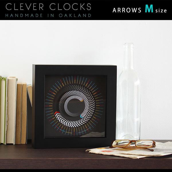 置時計 置き時計 おしゃれ 子ども 時計 壁掛け 掛け時計 アンティーク 卓上時計 送料無料 壁掛け時計 アナログ 北欧 壁かけ時計 モダン インテリア スイープムーブメント 置き 壁掛 とけい デザイン スタンド付属 掛時計 ウォールクロック 128192 Clever Clocks アローズ M