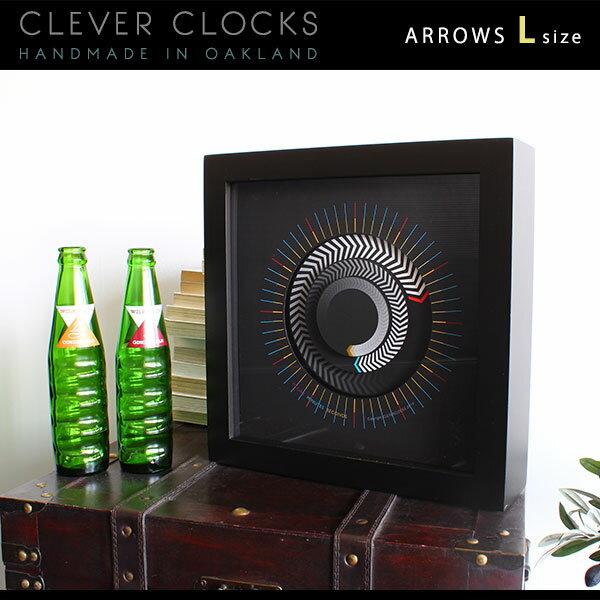 置時計 置き時計 アナログ おしゃれ 子ども 時計 壁掛け 掛け時計 アンティーク かわいい 壁掛け時計 壁時計 北欧 壁かけ時計 モダン インテリア スイープムーブメント 置き 壁掛 卓上時計 送料無料 スタンド付属 掛時計 ウォールクロック 128193 Clever Clocks アローズ L