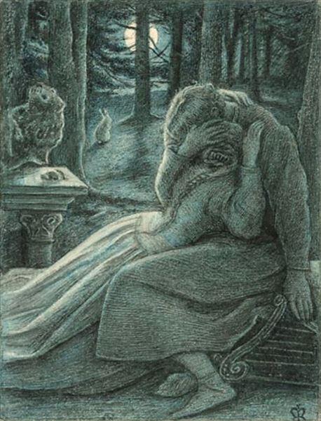 油絵  John Everett Millais_ 愛
