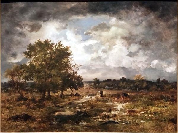 油絵  Narcisse Virgile Diaz de la Pena_ 嵐の接近