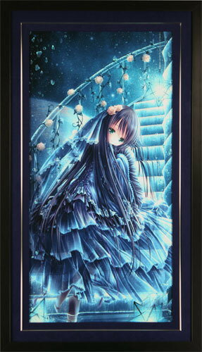 【送料無料/絵画・版画】【中古】てぃんくる(Tinkle) THE BLUE WORLD(C/E)本人 金ペン サイン