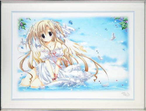 【送料無料/絵画・版画】【中古】梱枝 りこ(Riko Korie) ANGEL MAGIC本人 鉛筆 サイン