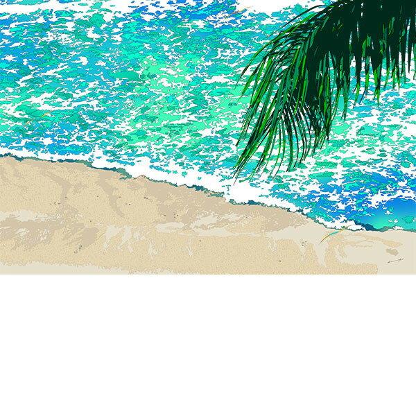 ■鈴木英人■版画「潮風に想うあの頃」