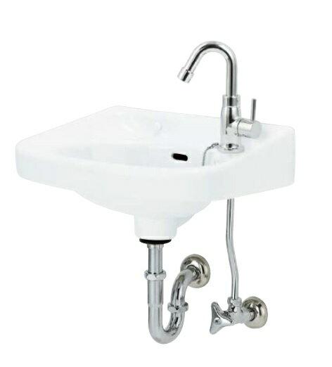 アサヒ衛陶 平付洗面器 L250DPSETW 洗面器 壁排水金具 Pトラップ 仕様