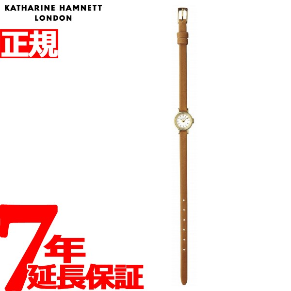 【1000円OFFクーポン!9月19日9時59分まで!】キャサリンハムネット KATHARINE HAMNETT 腕時計 レディース スモールラウンド SMALL ROUND アンティークデザイン KH7811-04