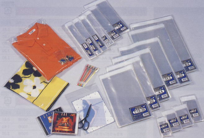 【福助工業】 オーピーパック テープ付 ワンタッチ袋 T-27 (270x450+40mm)1000枚入り
