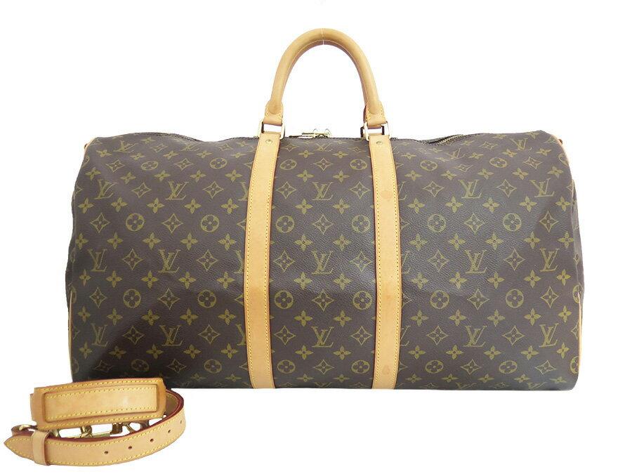 ルイヴィトン Louis Vuitton トラベルバッグ モノグラム キーポルバンドリエール55 M41414 ブラウンxゴールド金具 モノグラムキャンバス ボストンバッグ 旅行かばん レディース メンズ【美品 おすすめ】【中古】 - e30209