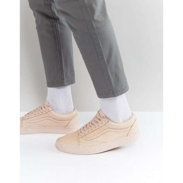 �ンズ メンズ スニーカー シューズ Vans Old Skool Leather Mono Trainers In Pink VA38G1ONU Pink