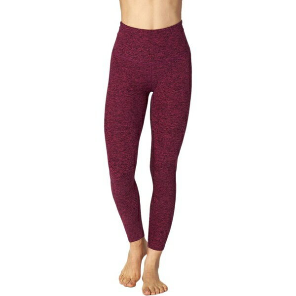 ビヨンドヨガ レディース フィットネス スポーツ Beyond Yoga Spacedye High Waist Long Leggings - Women's Black/Plumberry