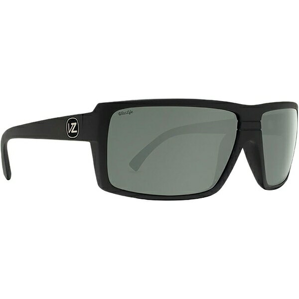 ボンジッパー メンズ サングラス・アイウェア アクセサリー VonZipper Snark Wildlife Sunglasses - Polarized Black Satin/Wild Grey Silver Flash Polar