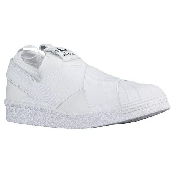 アディダスオリジナルス レディース バスケットボール スポーツ Women's adidas Originals Superstar Slip On White/White/Core Black