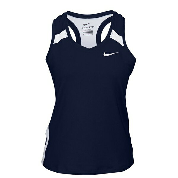 ナイキ レディース フィットネス スポーツ Women's Nike Team Power Stock Race Day Tank Navy/White