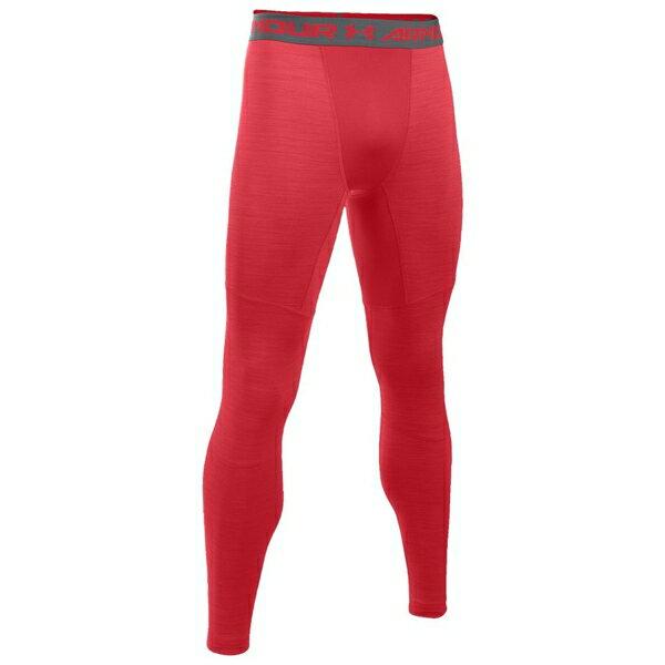 アンダーアーマー メンズ フィットネス スポーツ Men's Under Armour ColdGear Armour Compression Tights Red/Graphite