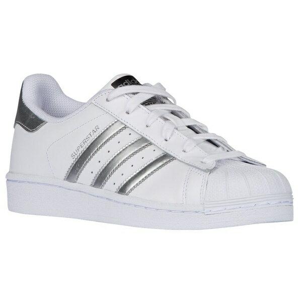 アディダスオリジナルス レディース バスケットボール スポーツ Women's adidas Originals Superstar White/Silver Metallic/White